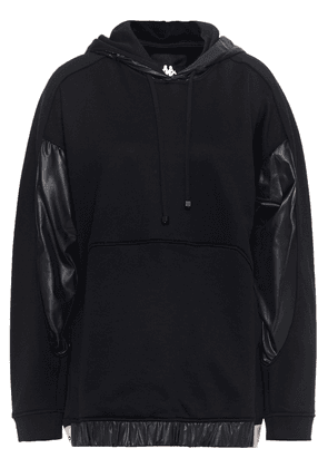 Koral Coated Shell-paneled French Terry Hoodie Woman Black Size XS