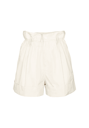 Faille paperbag shorts