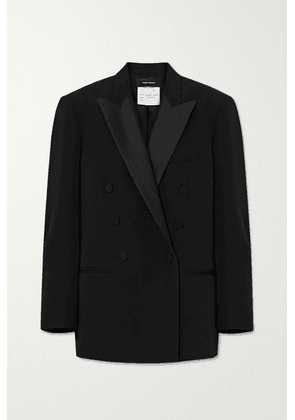 Isabel Marant - Double-breasted Satin-trimmed Wool Blazer - Black