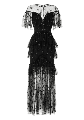 Alice McCall Moon Lover lace-overlay gown - Black