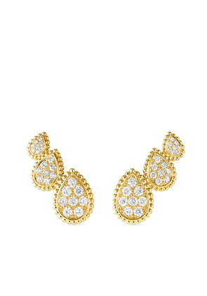 Boucheron 18kt yellow gold diamond Serpent Bohème earrings