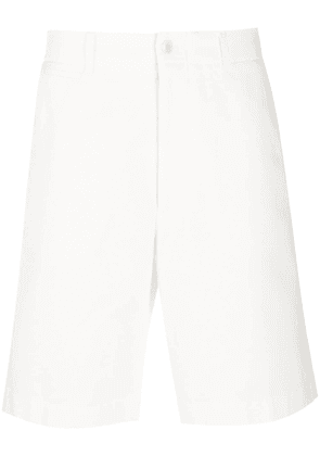Gucci logo patch bermuda shorts - Neutrals