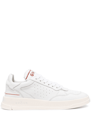 Ghoud logo-print lace-up trainers - White
