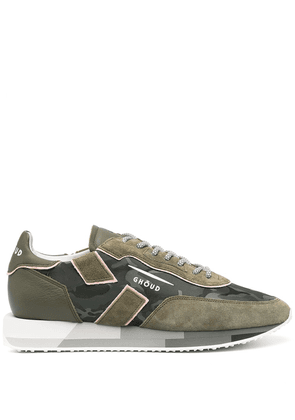 Ghoud logo-print lace-up sneakers - Green
