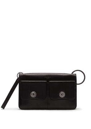 Dolce & Gabbana logo-embossed crossbody leather bag - Black