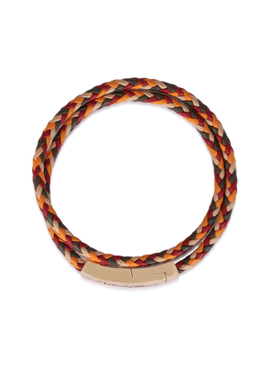 Dolce & Gabbana logo-plaque braided bracelet - Multicolour