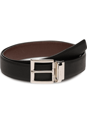 Prada reversible buckle belt - Black