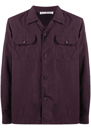 Acne Studios chest patch pockets shirt - Red