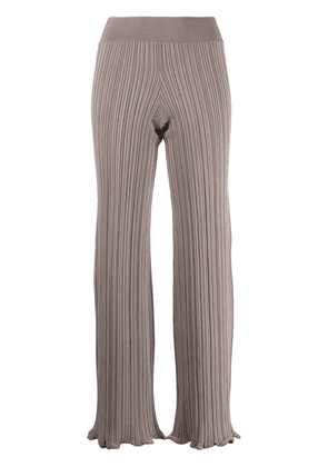 Acne Studios stretch-fit ribbed trousers - Neutrals