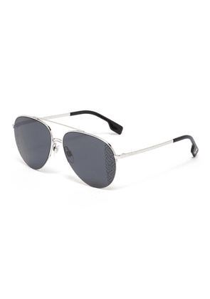 Monogram metal frame aviator sunglasses