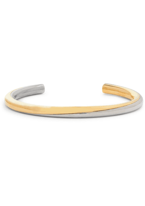 SAINT LAURENT - Silver and Gold-Tone Cuff - Men - Silver - M