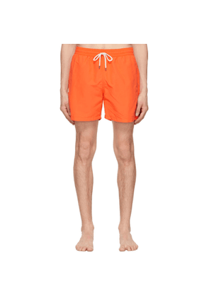 Polo Ralph Lauren Orange Solid Traveller Swim Shorts