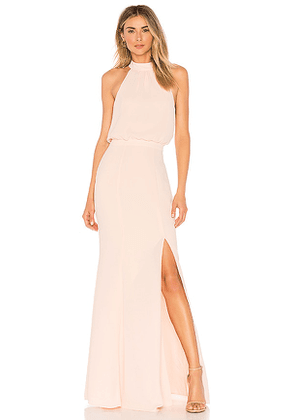 LIKELY Cameron Gown in Pink. Size 8.