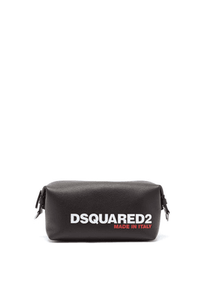 Dsquared2 - Logo-debossed Leather Wash Bag - Mens - Black