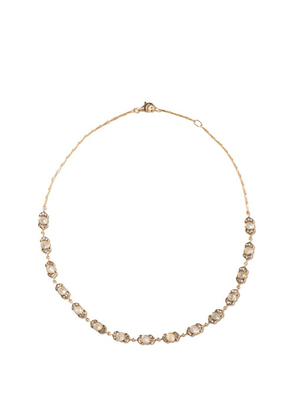 Noor Fares - Kamala Diamond, Moonstone & 18kt Gold Necklace - Womens - Gold Multi