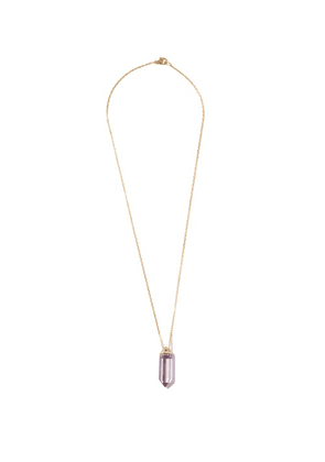 Noor Fares - Vara Diamond, Amethyst & 18kt Gold Necklace - Womens - Purple Multi
