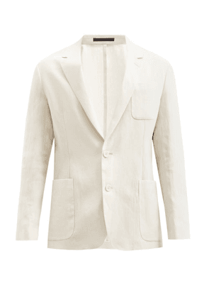 Paul Smith - Single-breasted Linen Blazer - Mens - Beige