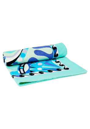 Emilio Pucci Printed Cotton-terry Beach Towel Woman Mint Size --