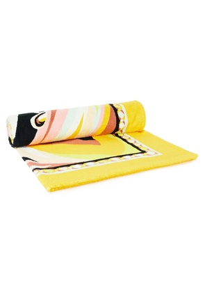 Emilio Pucci Printed Cotton-terry Beach Towel Woman Yellow Size --