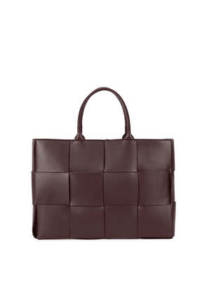 Bottega Veneta Arco Intrecciato Large Burgundy Leather Tote