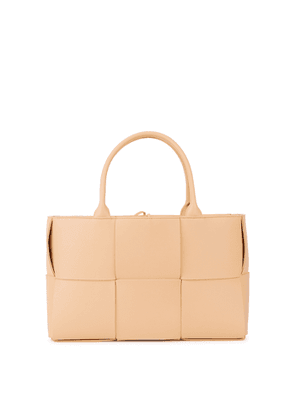 Bottega Veneta Arco Intrecciato Sand Leather Tote