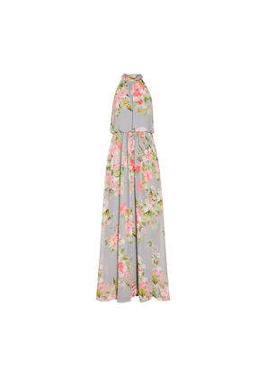 Adrianna Papell Floral Chiffon Gown