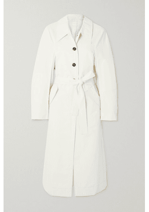 LOW CLASSIC - Belted Cotton-blend Gabardine Trench Coat - Off-white