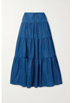 STAUD - Lucca Tiered Recycled Shell Maxi Skirt - Blue