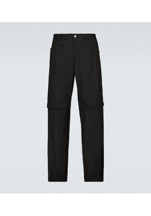 Convertible cotton trackpants