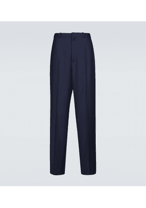 Large fit tailored wool pants