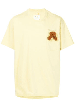 Doublet bear-appliqué embroidered t-shirt - Yellow