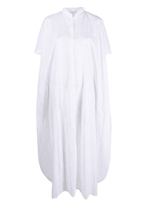 Daniela Gregis crumpled-effect midi dress - White