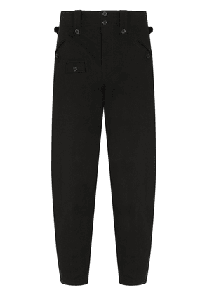 Dolce & Gabbana mid-rise tapered trousers - Black