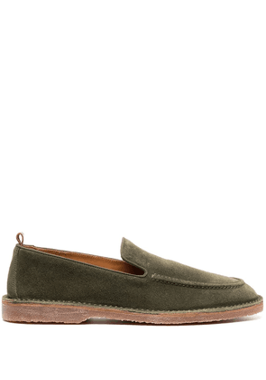 Buttero suede-leather loafers - Green