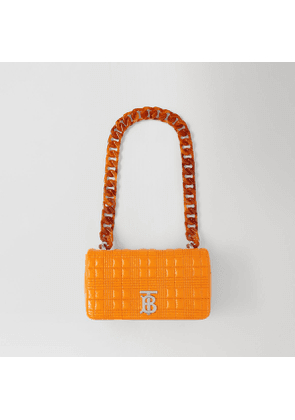 Burberry Small Quilted Lambskin Lola Bag, Orange