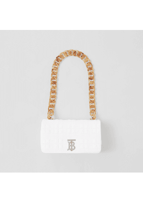 Burberry Small Quilted Lambskin Lola Bag, White