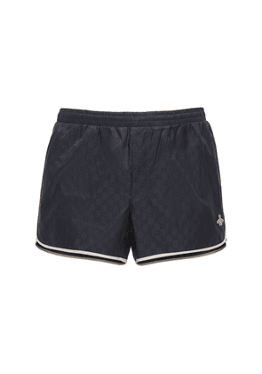 Gg Nylon Swim Short W/bee Patch