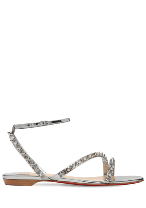 10mm Mafaldina Metallic Leather Sandals