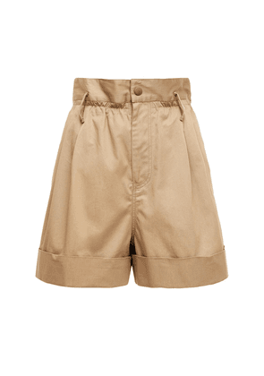 Cotton Gabardine Shorts