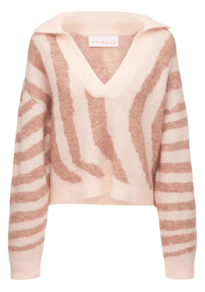 Cami Mohair Blend Knit Polo Sweater