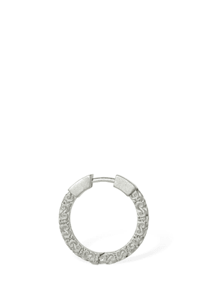 Engraved Small Mono Hoop Earring