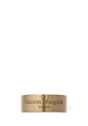 Maison Margiela Logo Two Tone Band Ring