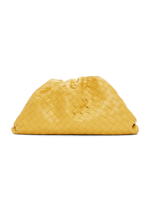 Bottega Veneta Yellow Intrecciato The Pouch Clutch