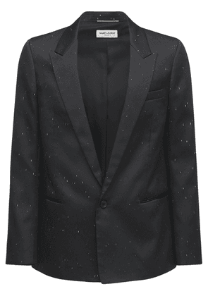Flame Single Breast Tech & Silk Jacket