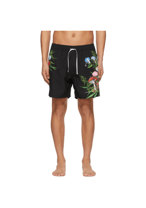 AMIRI Black Psychedelic Swim Shorts
