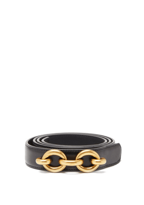Saint Laurent - Maillon Leather Belt - Womens - Black