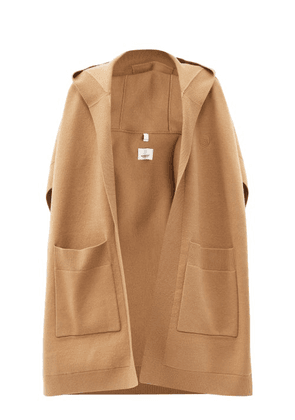 Burberry - Hooded Cashmere-blend Cape - Womens - Camel