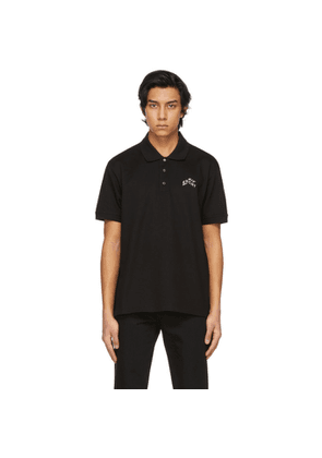 Givenchy Black Embroidered Refracted Logo Polo