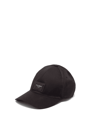 Dolce & Gabbana - Logo-plaque Cotton-blend Cap - Mens - Black
