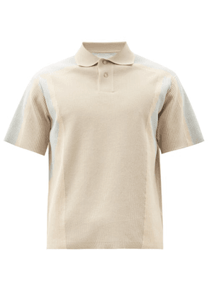 Jacquemus - Blé Ribbed Cotton-blend Polo Shirt - Mens - Beige